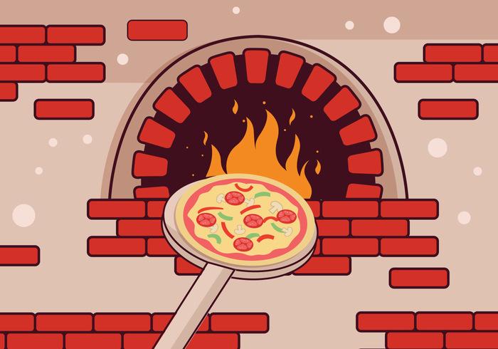 Pizza Oven Vector.