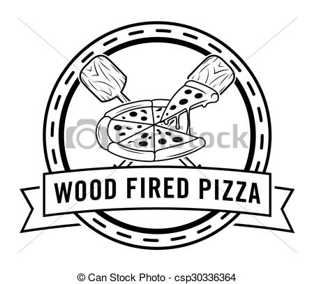 Clip Art Vector of Wood fired pizza csp30336364.