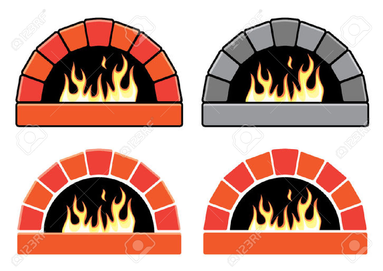 Wood fired pizzas clipart #12