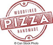 Clip Art Vector of Gourmet Pizza Grpahics.
