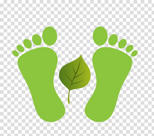 Footprint Toe , Green foot print transparent background PNG.