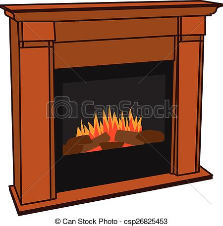Clipart Vector of Electric Fireplace for Lumbersexual.