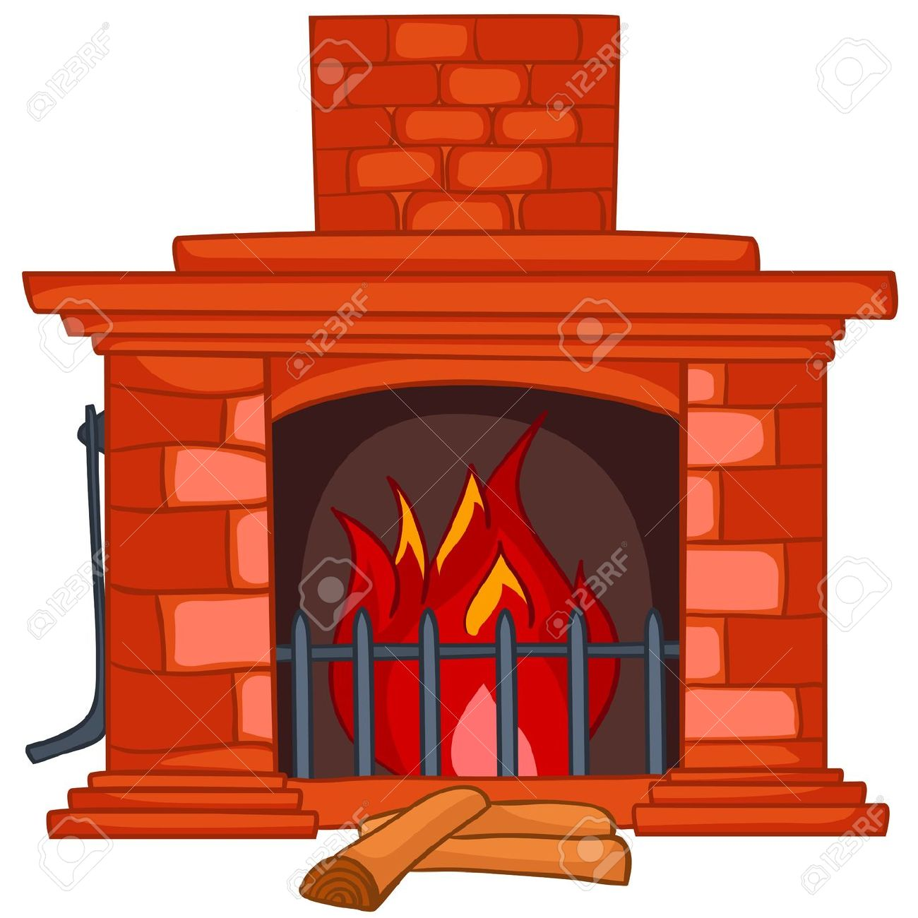 Cartoon Home Fireplace Royalty Free Cliparts, Vectors, And Stock.