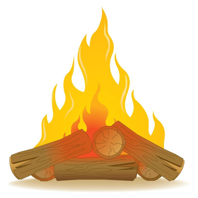 Fireplace logs clipart.
