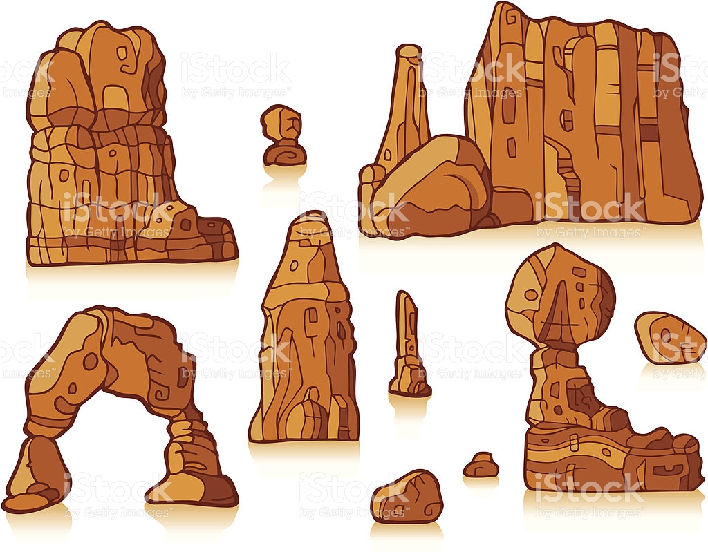 Rock Formation In Color stock vector art 164563813.