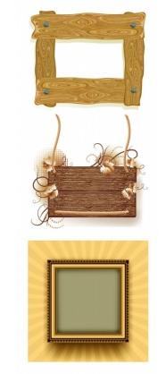 wood frame border clip art vector free download.