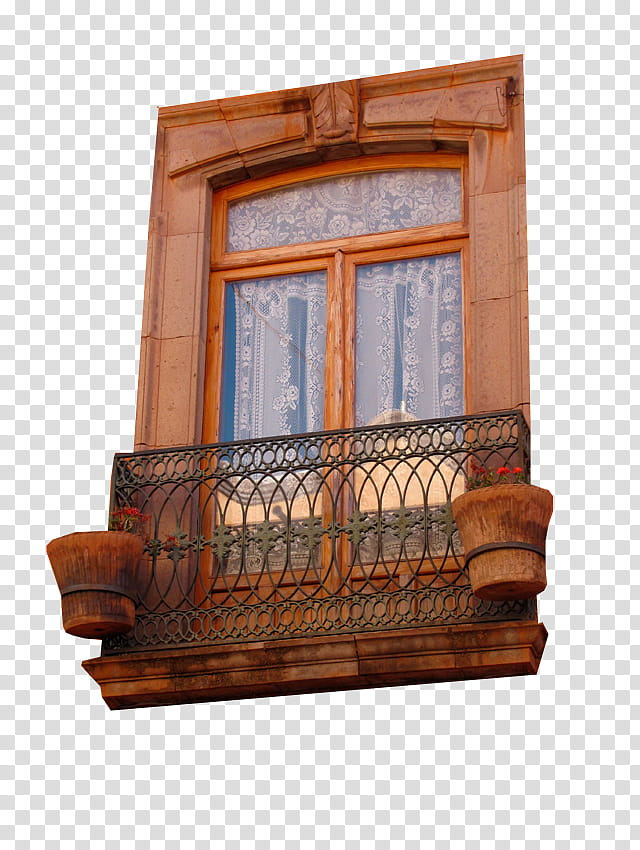 Windows, closed glass door with brown wooden frame.
