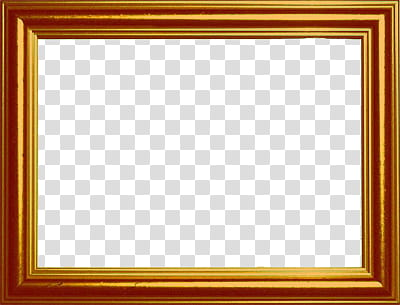 Antique Frames, brown wooden frame transparent background.