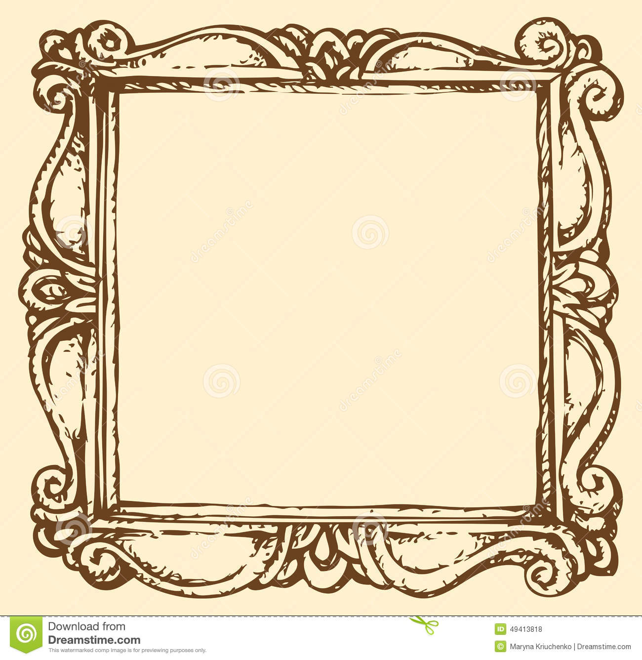 Wood Frame Outline Clipart Clipground