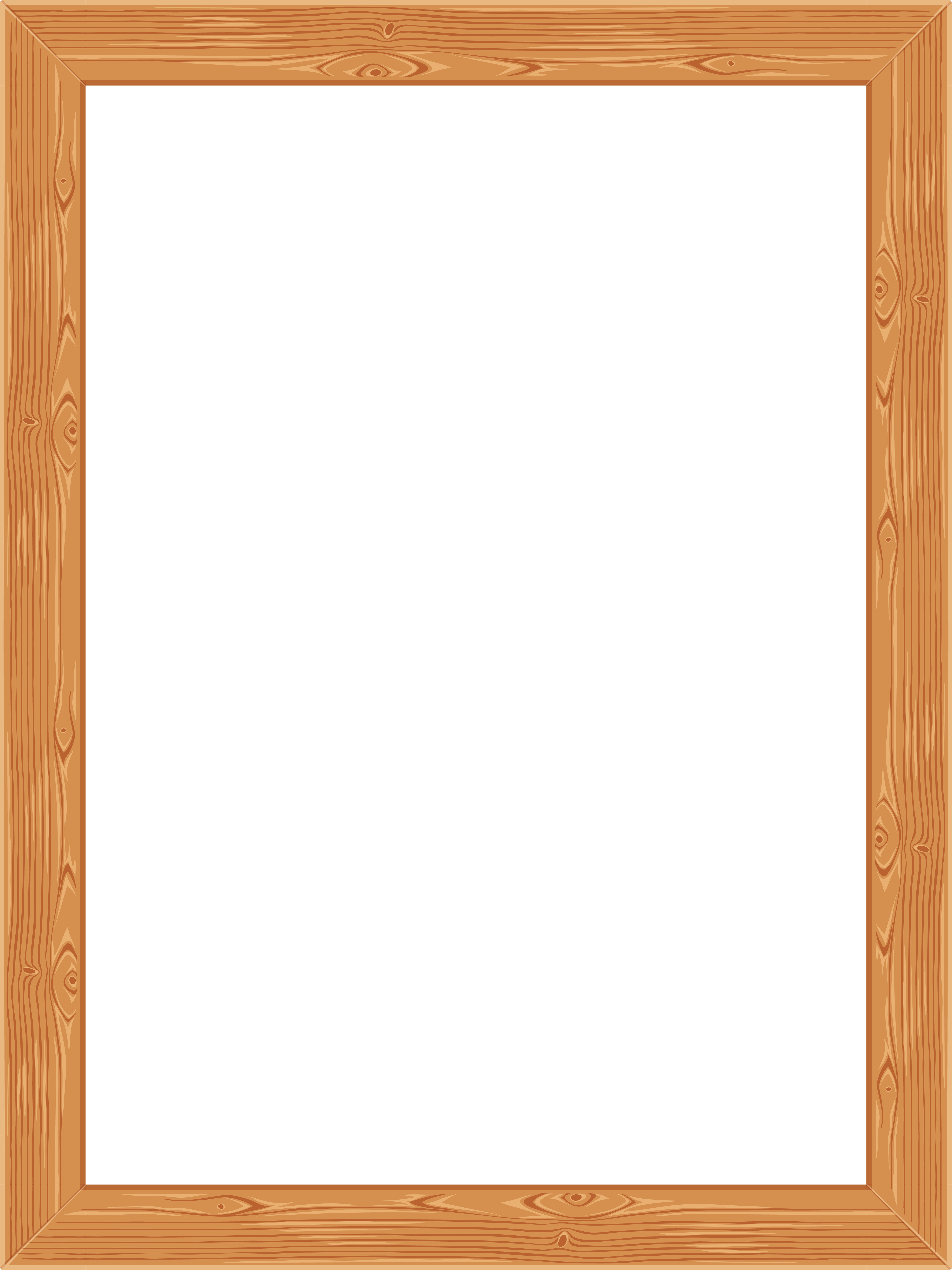 Transparent Classic Wooden Frame PNG Image.