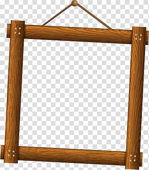 Brown wooden frame , Preview, Wooden frames transparent.