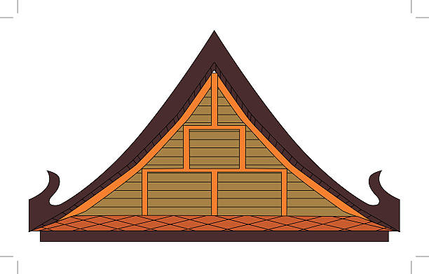 Wooden Gable Clip Art, Vector Images & Illustrations.