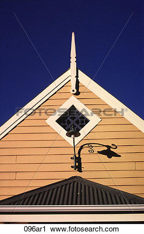 Stock Photography of Gable End of Wooden Hall Cape Town South.