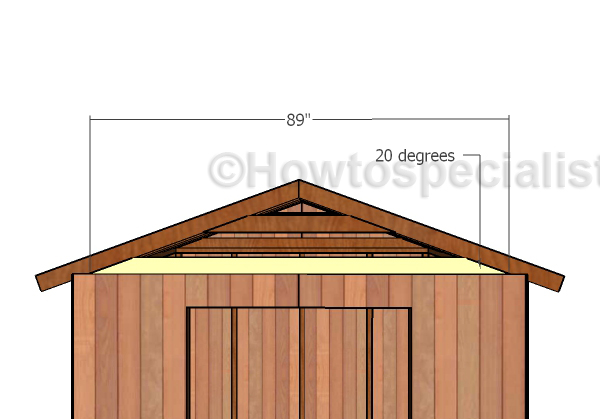 Building a Gable Roof for a 8x8 Shed.