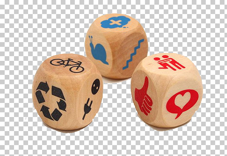 Poker dice Board game Uno, Wood color public dice PNG.