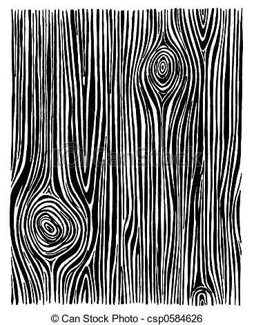 Black White Wood Grain Clipart.