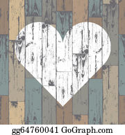 Wood Grain Heart Clip Art.