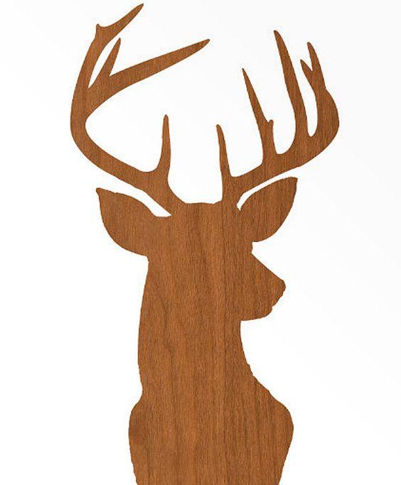 Deer Head Print Silhouette.