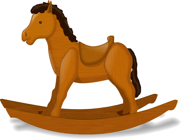 Wood Horse Clipart.
