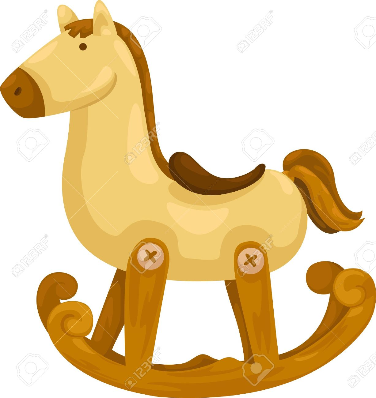 Rocking Horse Vector Illustration On A White Background Royalty.