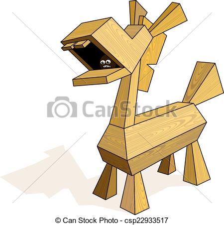 Vector Clip Art of Trojan Horse.