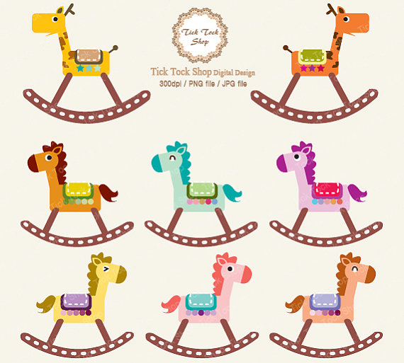 Items similar to wooden horse 8 SET.
