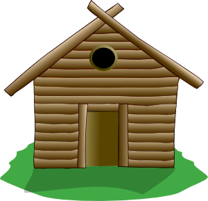 Wood House Clipart.