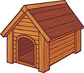 The wooden house clipart #6
