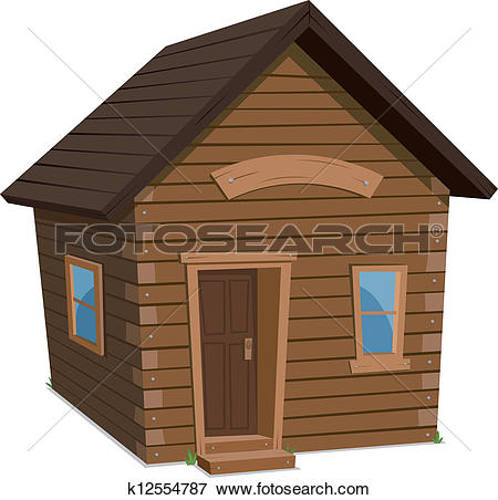 Clip Art of Wood House Lifestyle k12554787.