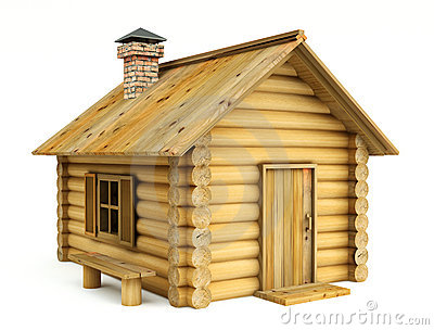The wooden house clipart #11