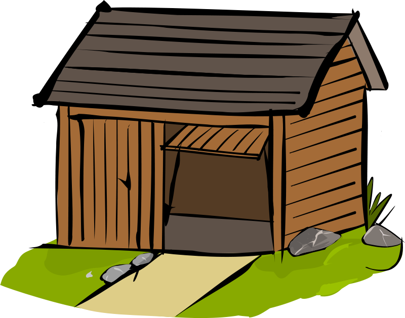 The wooden house clipart #3