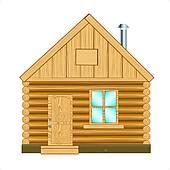 Wooden House Clip Art.