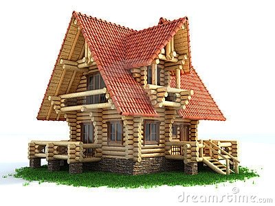 Photo Grass With Wooden House Clipart.