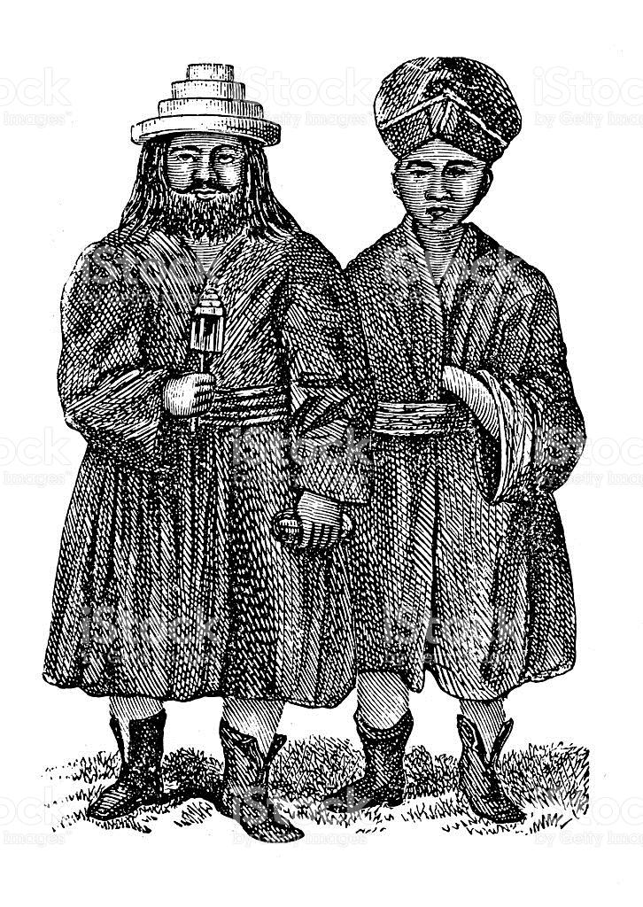 Inhabitants Of Ladakh India stock vector art 180752774.