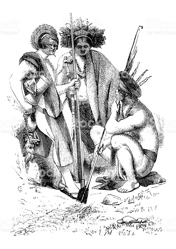 Inhabitants Of Guyana South America stock vector art 180713159.
