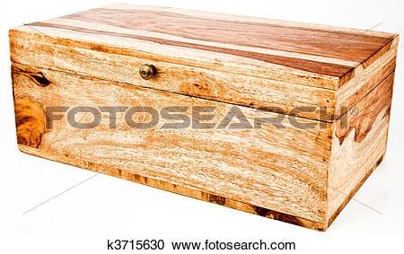 Stock Photography of Wood Jewelry Storage Chest Box k3715630.