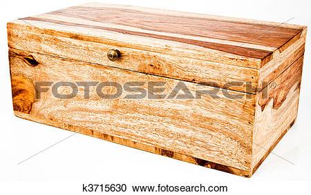 Stock Photography of Wood Jewelry Storage Chest Box k3715630.
