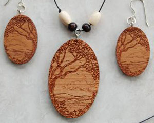 Examples of Laser Cut Jewelry.