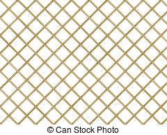 Clip Art of Wood Lattice Background Pattern in Brown Cane.