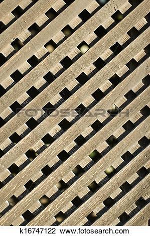 Stock Photo of Lattice Wood k16747122.