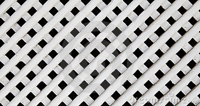 Wood Lattice On A White Background Stock Photo.