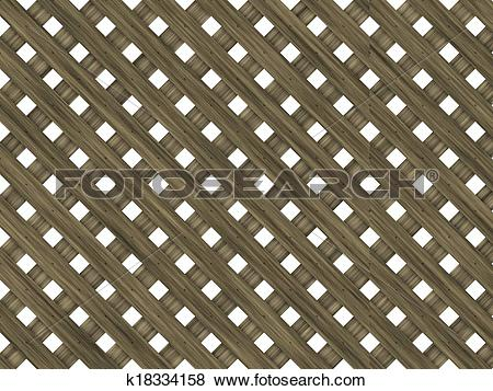 Stock Illustration of wood lattice of diagonal planking with.