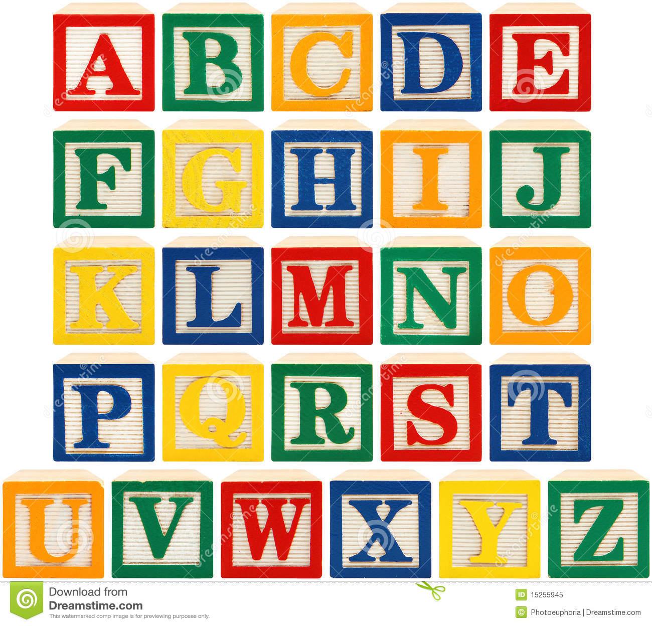 16 Wooden Block Letters Font Images.