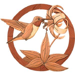 Hummingbird Intarsia Pattern Woodworking Plan from WOOD Magazine.