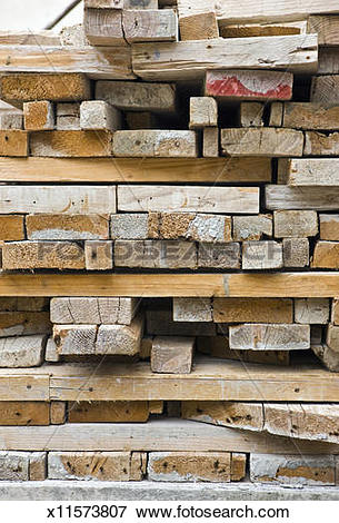 Picture of Wooden boards used to make concrete mouldings x11573807.