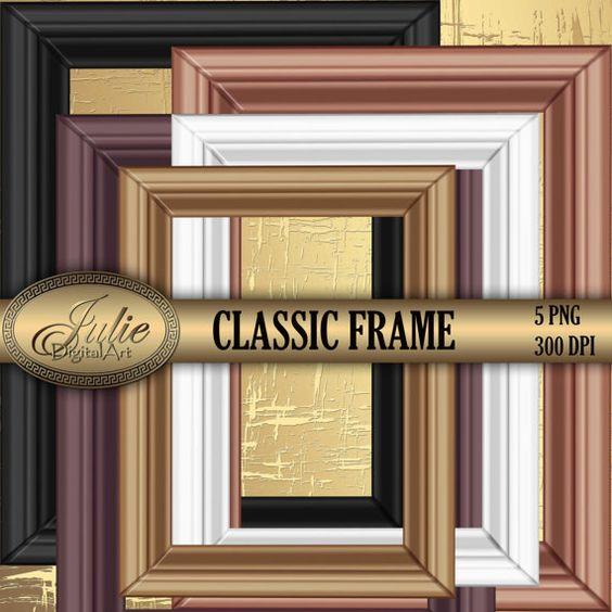 Picture Frames clipart digital molding Clip Art от JulieDigitalArt.