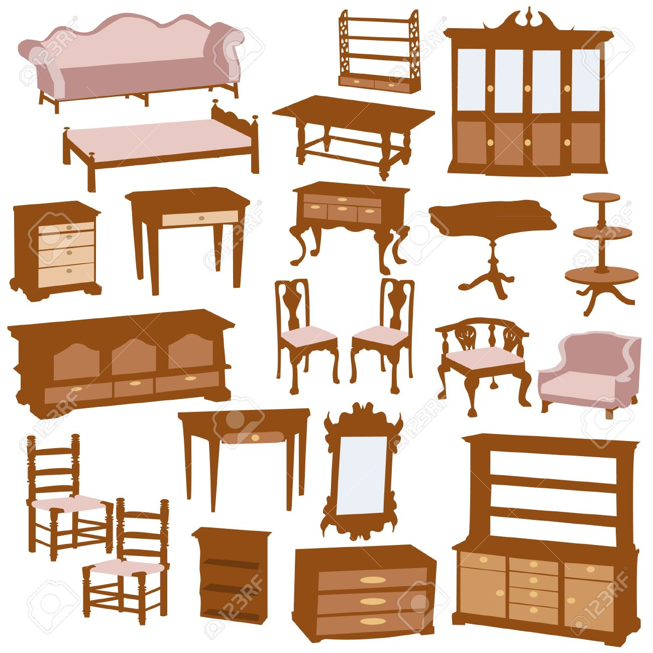 Wood Furniture Clipart.
