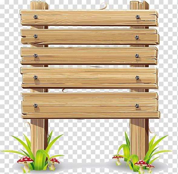 Wood Frame and panel, wood transparent background PNG.