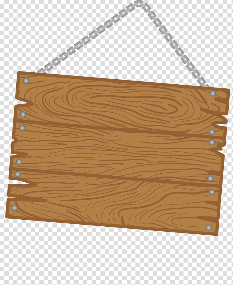 Brown wooden hanging board , Wood Plank 54 Cards Bohle.