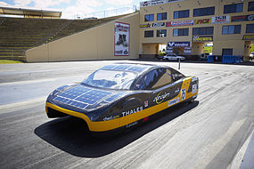 Solar car.